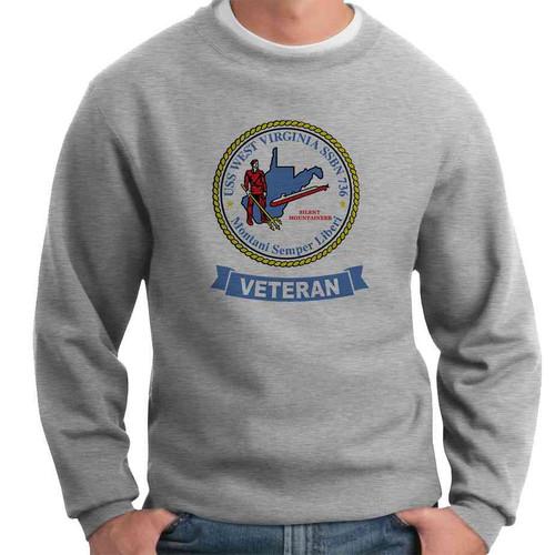 uss west virginia veteran crewneck sweatshirt