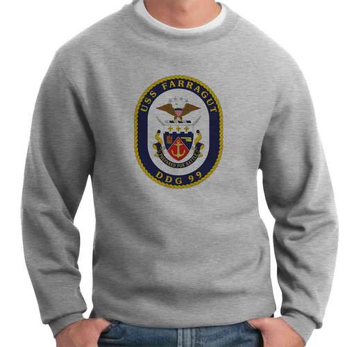 uss farragut crewneck sweatshirt