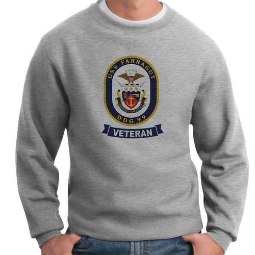uss farragut veteran crewneck sweatshirt