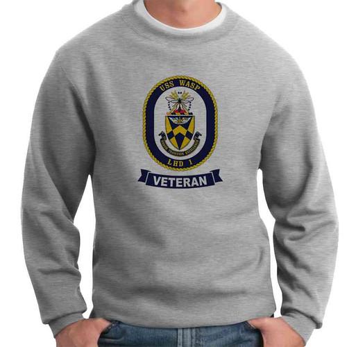 uss wasp veteran crewneck sweatshirt
