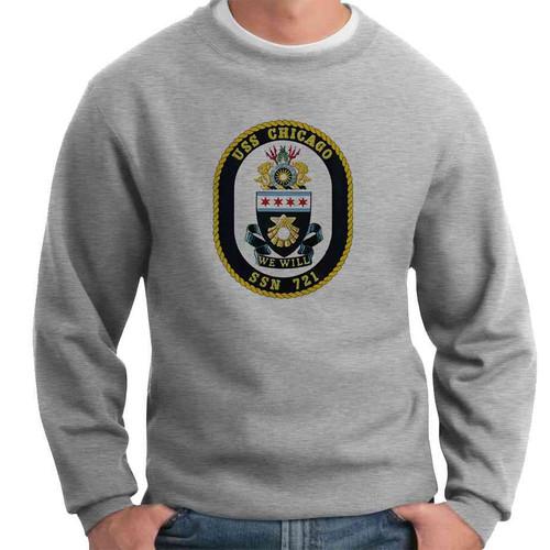 uss chicago crewneck sweatshirt