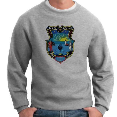 uss maine crewneck sweatshirt