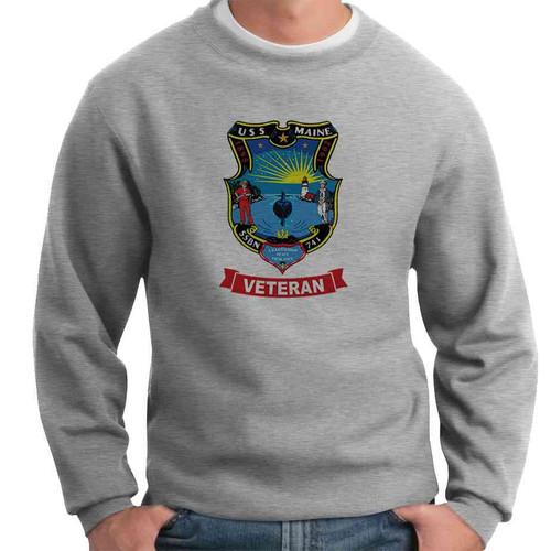 uss maine veteran crewneck sweatshirt