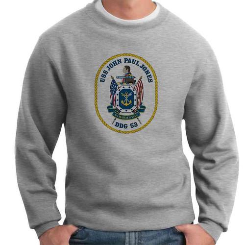 uss john paul jones crewneck sweatshirt