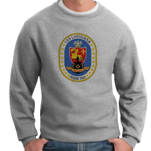 uss louisiana crewneck sweatshirt