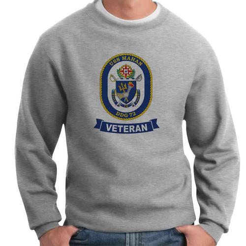 uss mahan veteran crewneck sweatshirt