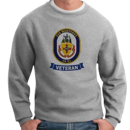 uss monterey veteran crewneck sweatshirt