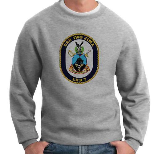 uss iwo jima crewneck sweatshirt