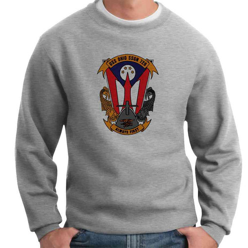 uss ohio crewneck sweatshirt