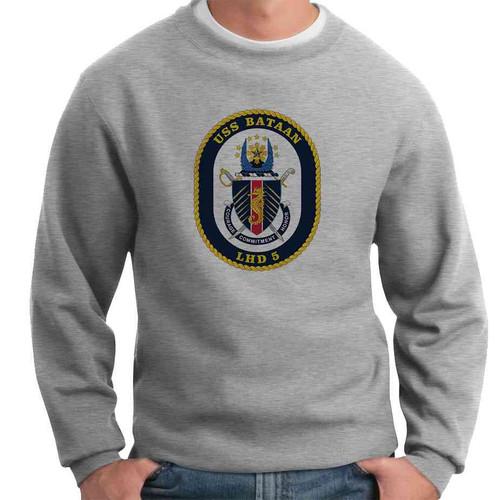 uss bataan crewneck sweatshirt
