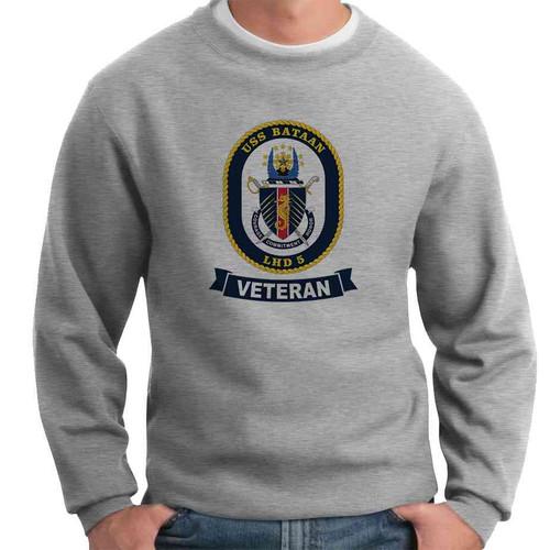 uss bataan veteran crewneck sweatshirt