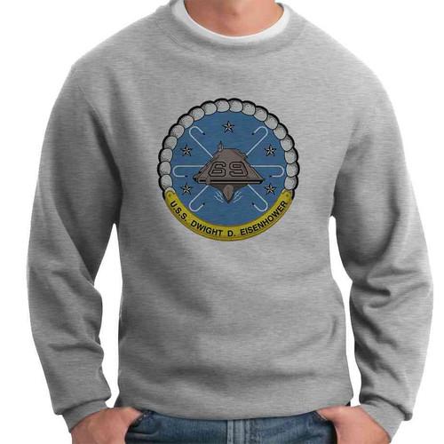 uss dwight d eisenhower crewneck sweatshirt