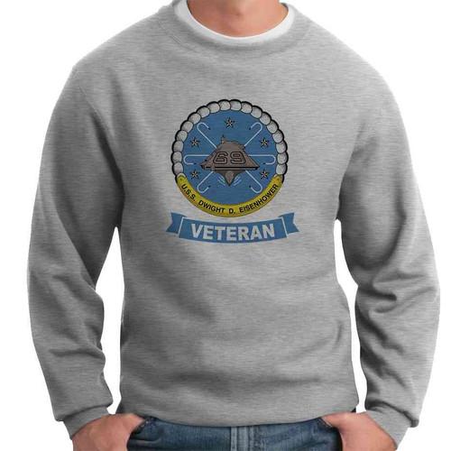 uss dwight d eisenhower veteran crewneck sweatshirt