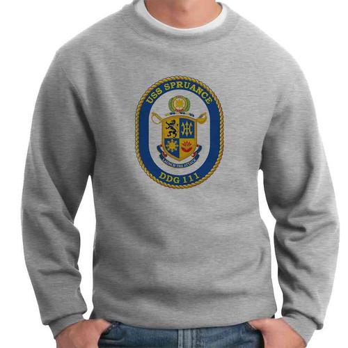 uss spruance crewneck sweatshirt