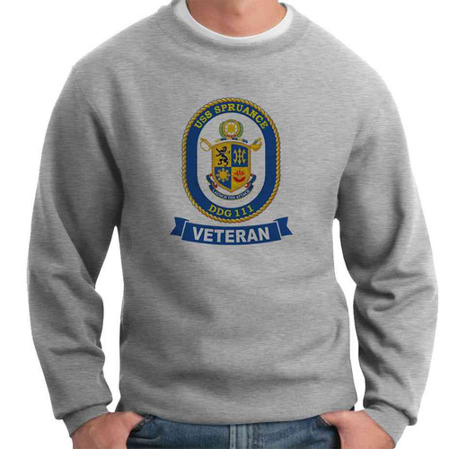 uss spruance veteran crewneck sweatshirt