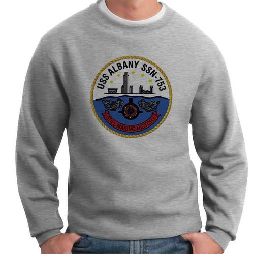 uss albany crewneck sweatshirt
