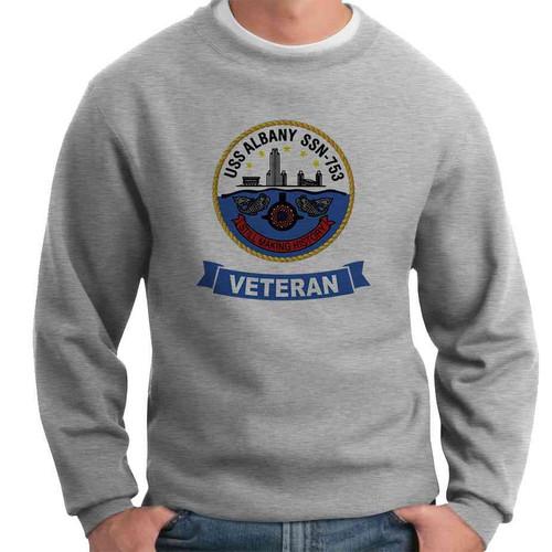 uss albany veteran crewneck sweatshirt