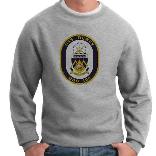 uss dewey crewneck sweatshirt