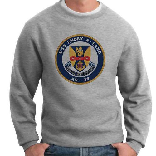 uss emory s land crewneck sweatshirt