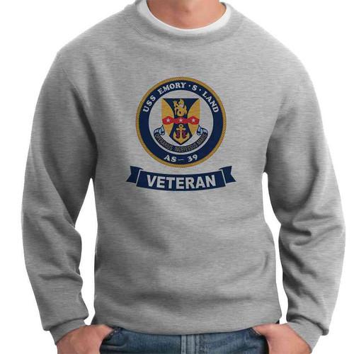 uss emory s land veteran crewneck sweatshirt