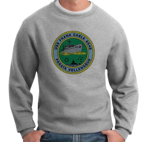 uss frank cable crewneck sweatshirt