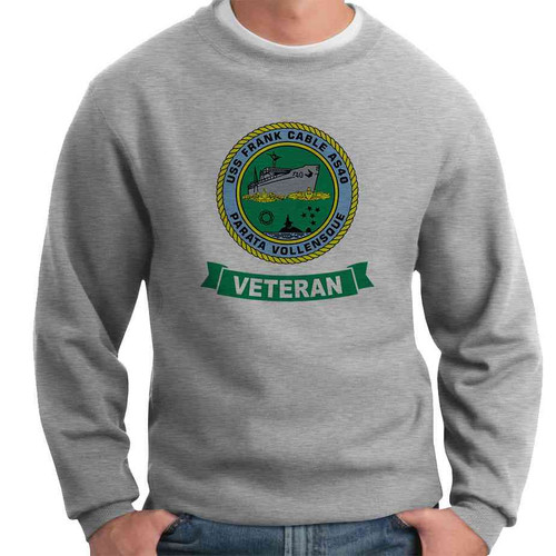 uss frank cable veteran crewneck sweatshirt