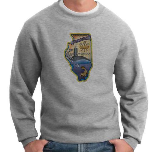 uss illinois crewneck sweatshirt