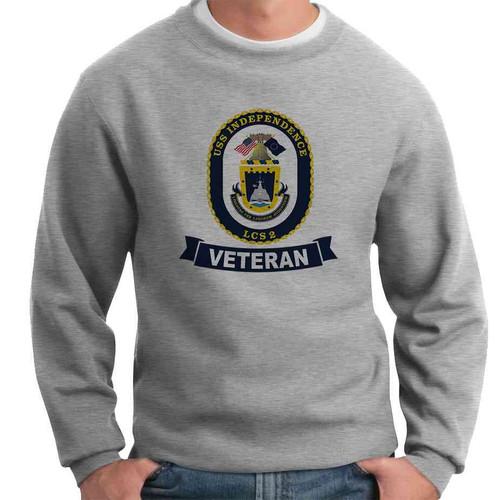 uss independence veteran crewneck sweatshirt