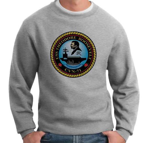 uss theodore roosevelt crewneck sweatshirt