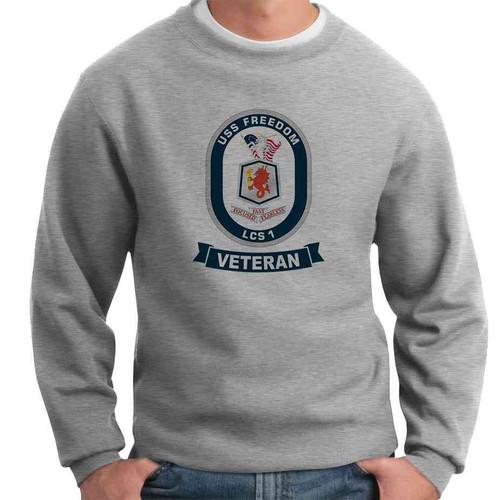 uss freedom veteran crewneck sweatshirt