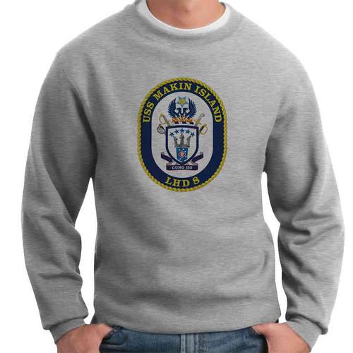 uss makin island crewneck sweatshirt