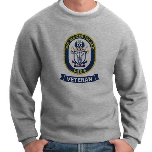 uss makin island veteran crewneck sweatshirt