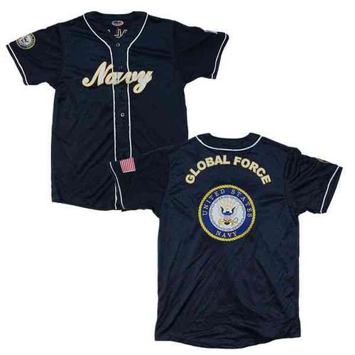 u s navy embroidered baseball jersey