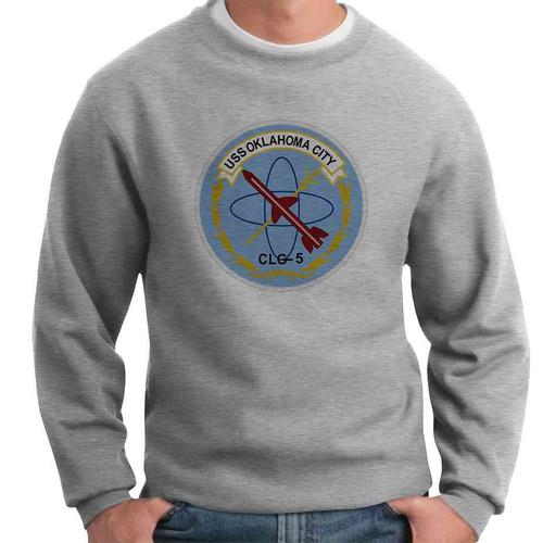 uss oklahoma city crewneck sweatshirt