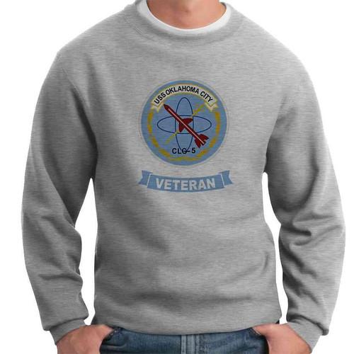 uss oklahoma city veteran crewneck sweatshirt