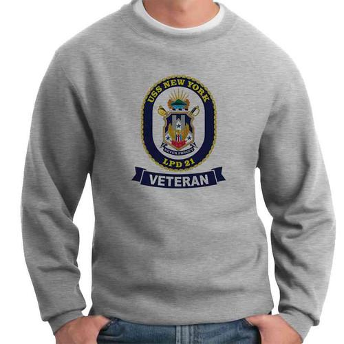 uss new york veteran crewneck sweatshirt