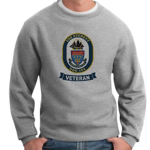 uss sterett veteran crewneck sweatshirt