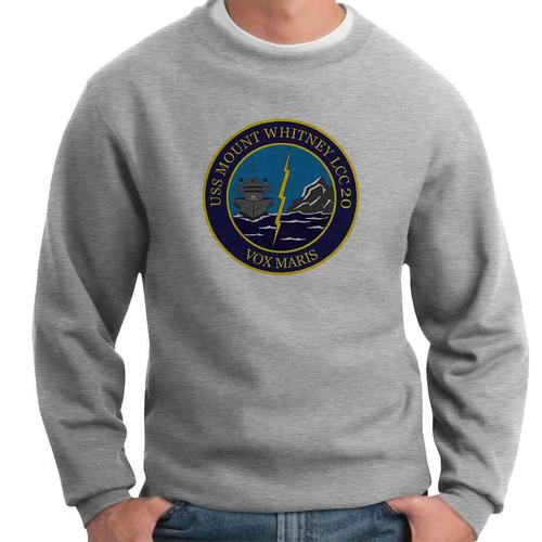 uss mount whitney crewneck sweatshirt