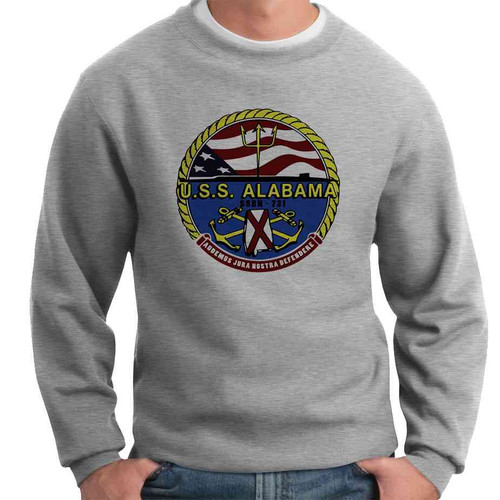 uss alabama crewneck sweatshirt