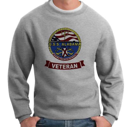 uss alabama veteran crewneck sweatshirt