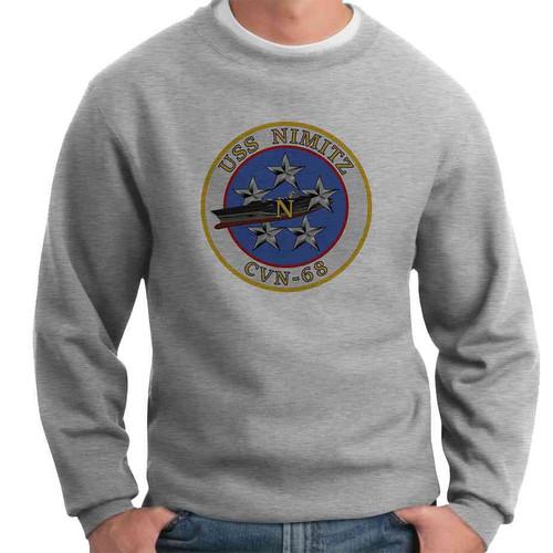 uss nimitz crewneck sweatshirt
