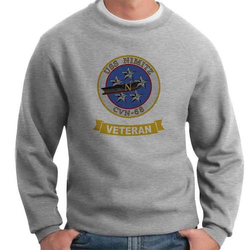 uss nimitz veteran crewneck sweatshirt
