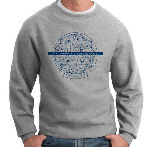 officially licensed u s air force cyberspace crewneck sweatshirt