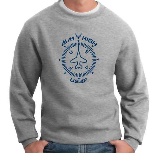 officially licensed u s air force gauge crewneck sweatshirt