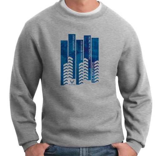 officially licensed u s air force service before self crewneck sweatshirt