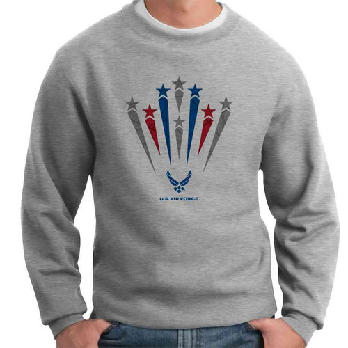 officially licensed u s air force stars crewneck sweatshirt
