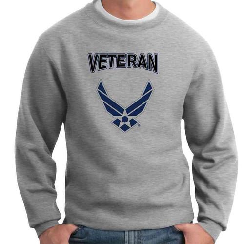 officially licensed u s air force wings veteran crewneck sweatshirt
