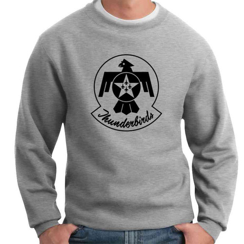 officially licensed u s air force thunderbirds black and white logo crewneck sweatshirt