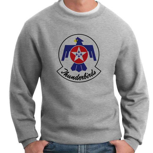 officially licensed u s air force thunderbirds color logo crewneck sweatshirt