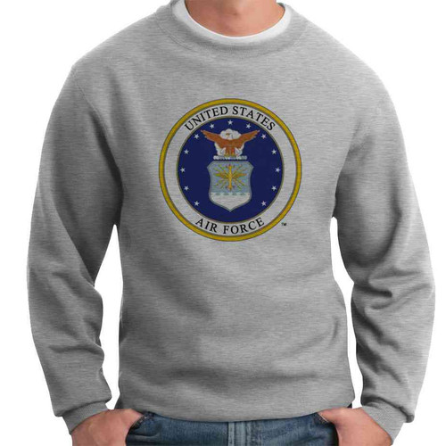 us air force eagle seal crewneck sweatshirt officially licensed